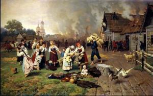 """Николай Дмитриев–Оренбургский """"Пожар в деревне"""""""